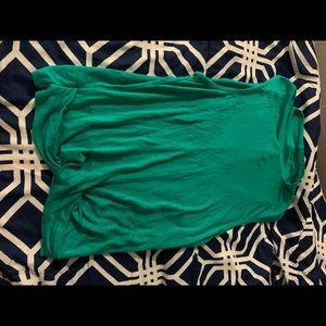 a ruffled shirt